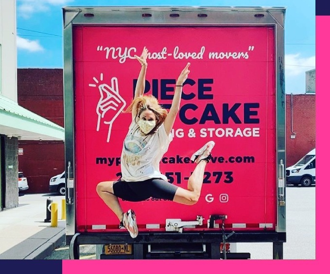 Piece of Cake movers NYC - Happy customer jumping