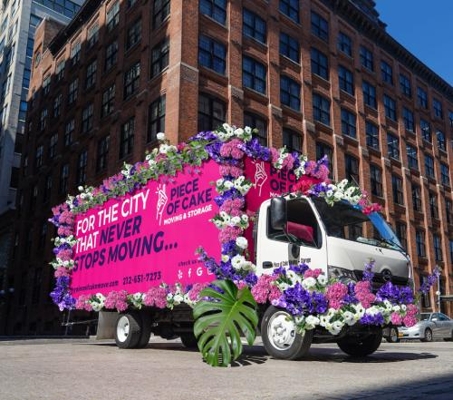 Washington Street, Dumbo Brooklyn Floral Truck Spring 2021